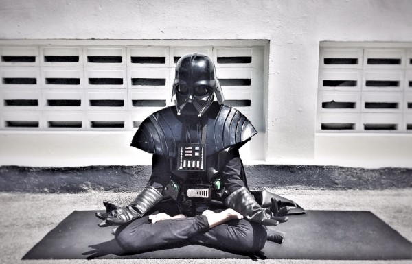 Darth Vader Teaching Yoga / Funzing Launches in Singapore