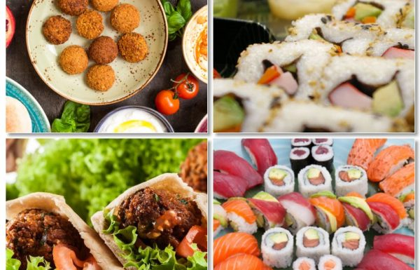 All the ways to get ready for World Sushi and Falafel Days!!